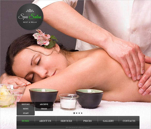 beauty salon website bootstrap template download