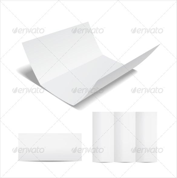 blank brochure tri fold