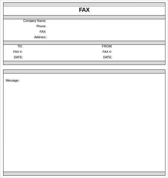 Fax Cover Sheet   Free Word Pdf Documents Download  Free