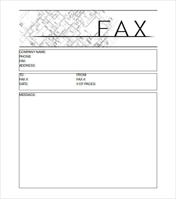 Simple Construction Cover Sheet In MS Word Download  Ms Word Fax Template