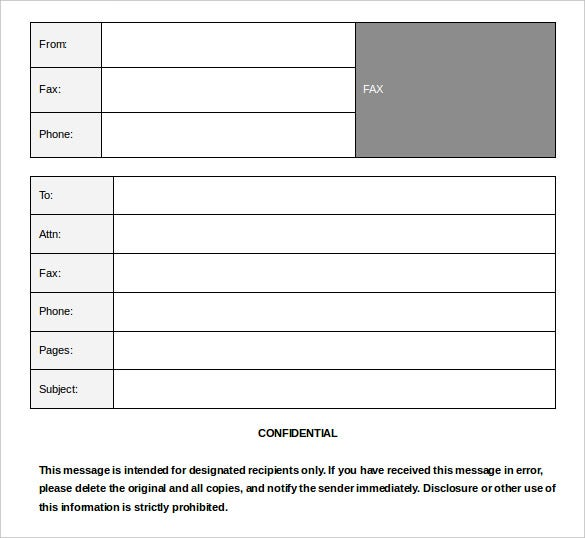 health confidential fax template free download