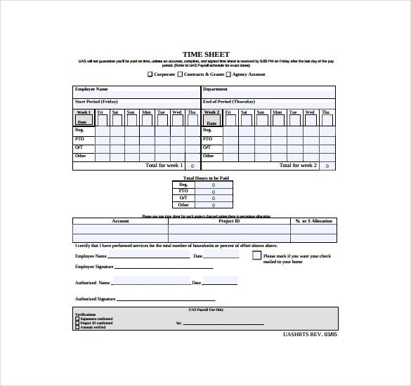 bi weekly payroll time sheet pdf free download