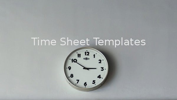 time sheet templates