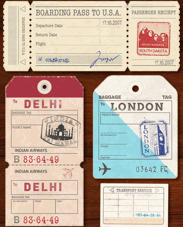 world luggage tag template illustrator format download