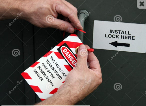 danger lock out tag out template