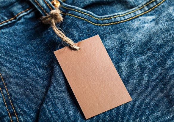 blank brown clothing hang tag template