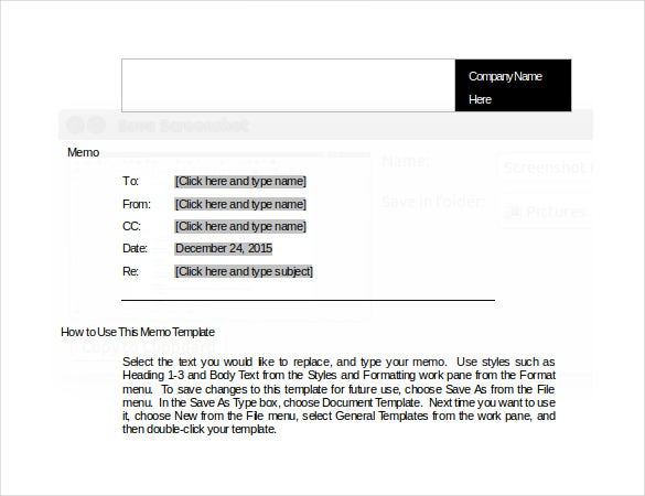 Memo Template   Free Word Pdf Documents Download  Free