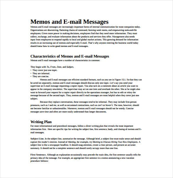email memo template pdf free download