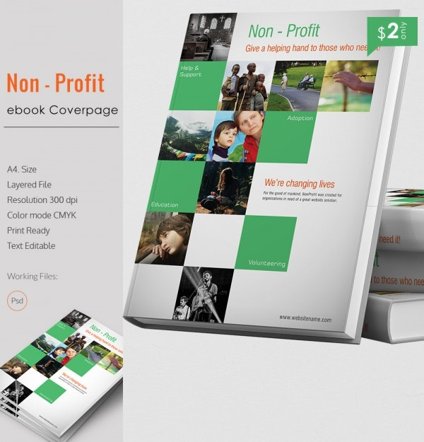Marvelous Non Profit E-Book Cover Page Template