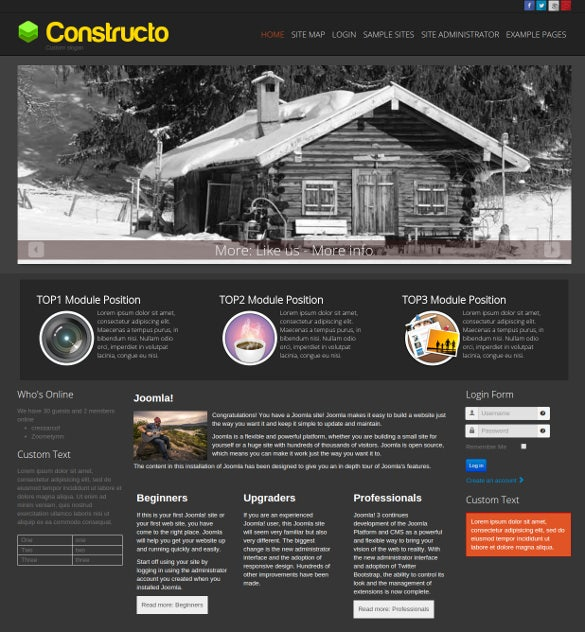 free construction company joomla theme