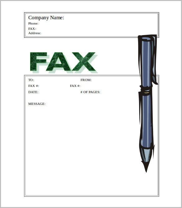 stylish stylus fax cover template free download