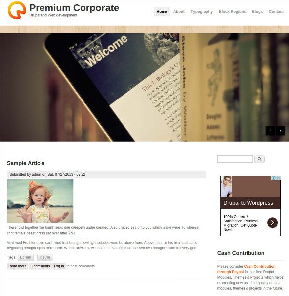 premium corporate business website drupal template