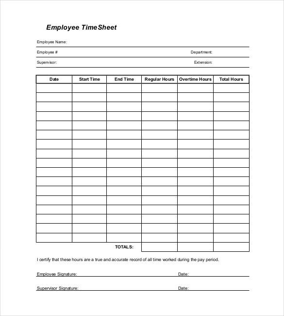 timesheet template portable document format 1
