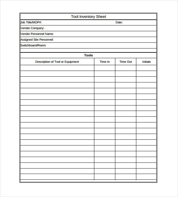 Inventory Template 20 Free Word Excel PDF Documents Download – Inventory List