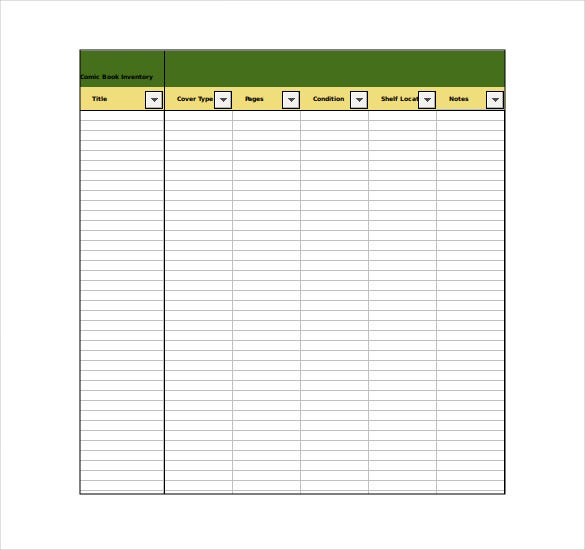 Inventory Template 20 Free Word Excel PDF Documents Download – Book Inventory Template