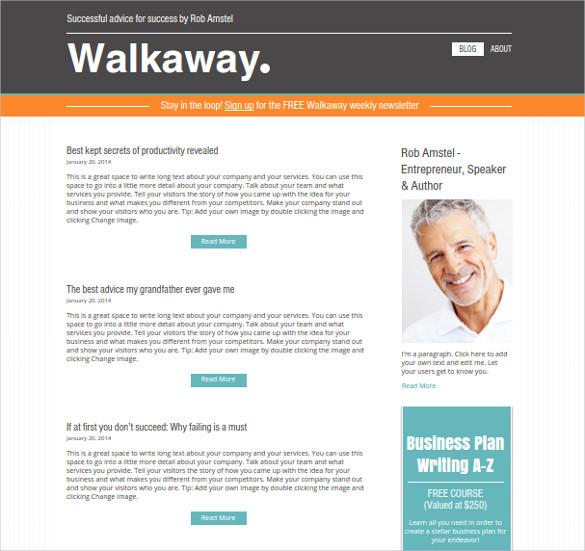 free entrepreneur blog theme