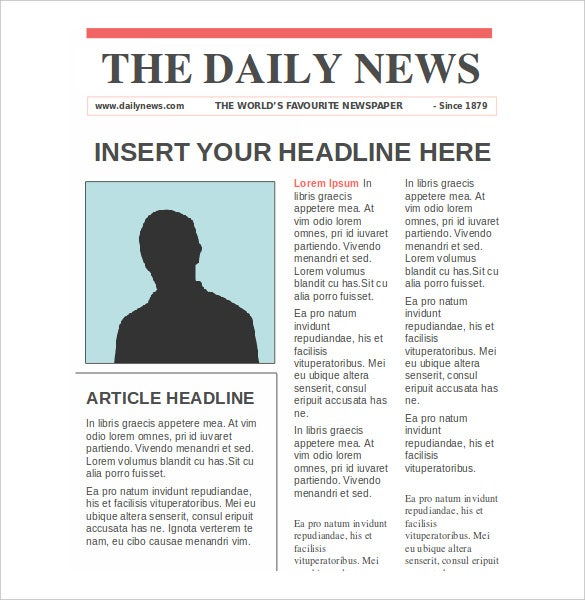 NewsPaper Templates 14 Free Word PDF PSD PPT Documents – Newspaper Layout Template