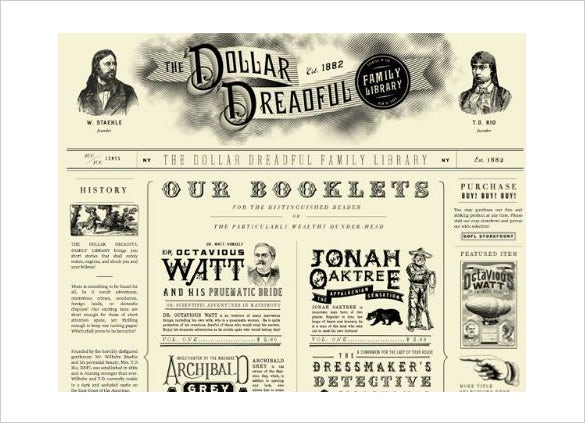 Newspaper templates 14 free word pdf psd ppt documents sample printable dollar dreadful newspaper template toneelgroepblik Images