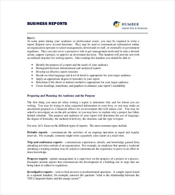 humber business report