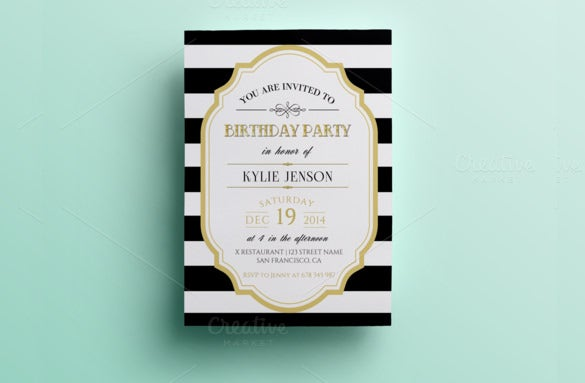 birthday party invitation psd template download