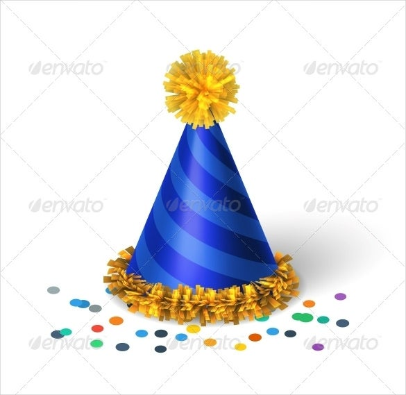 vector eps blue birthday hat template download