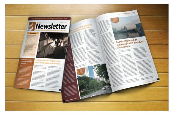 free indesign a4 newsletter template download