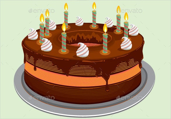 vector eps format birthday cake template download