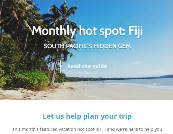 fiji html newsletter template free editable