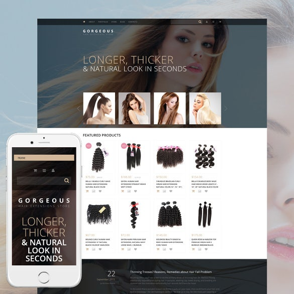 hair extensions woocommerce php theme