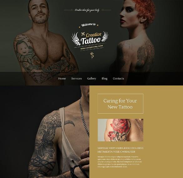 creative tattoo salon wordpress php theme