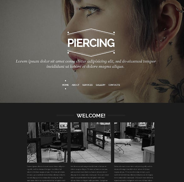tattoo salon responsive website php template