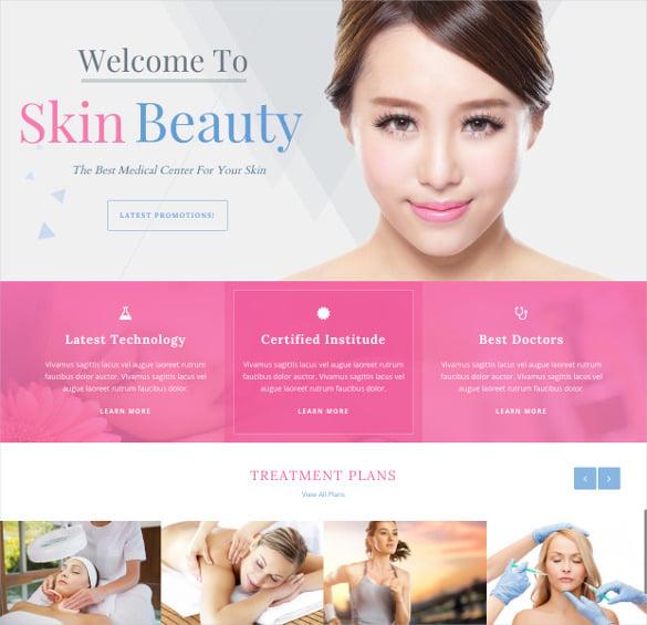 beauty spa salon wordpress php theme