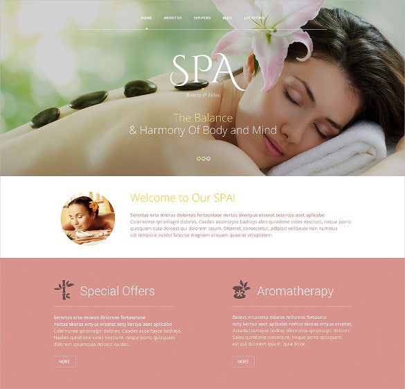 beauty salon responsive website php template