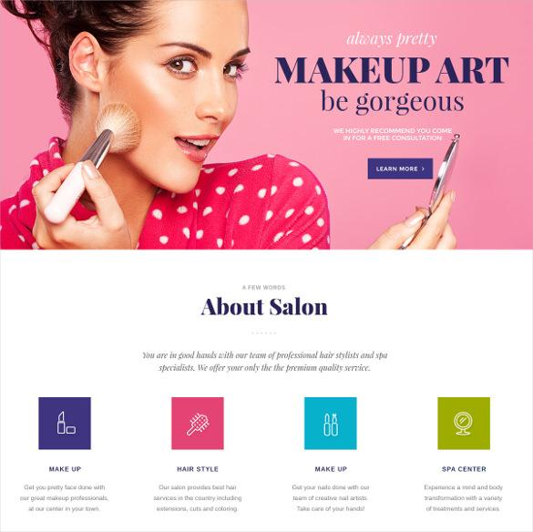 beauty hair spa salon wordpress php theme