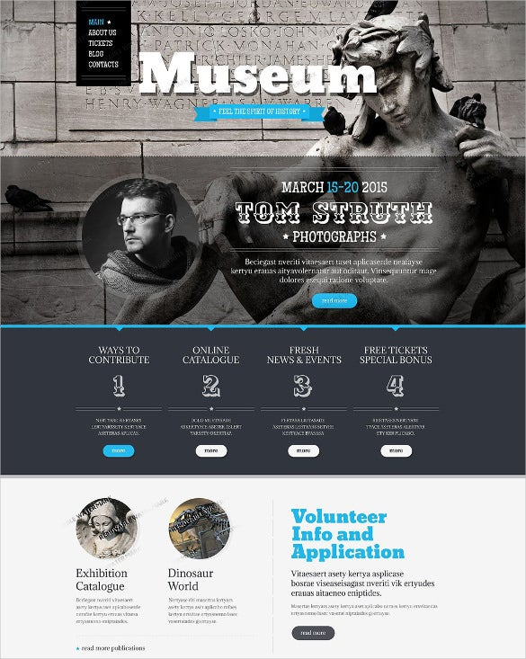 free museum drupal php template