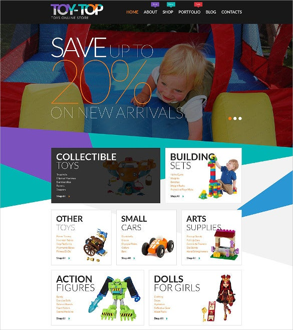 free toys store woocommerce php theme