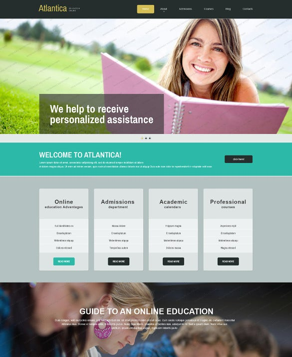 free education joomla php template