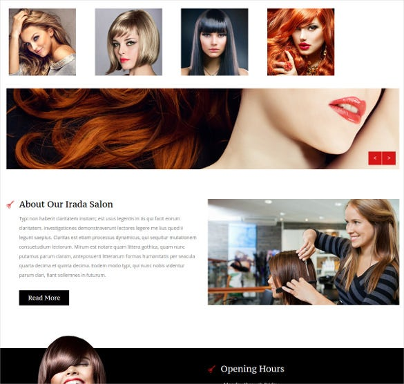miranda beauty salon nail salon wbsite template