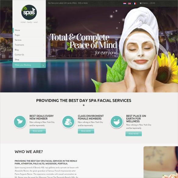 health beauty website theme