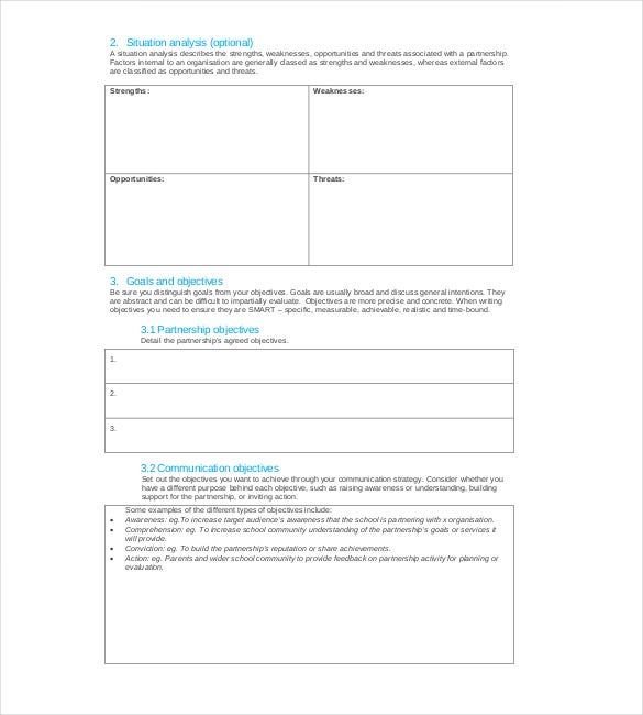 Strategy Template Free Word Excel PDF Document Download - Strategy template