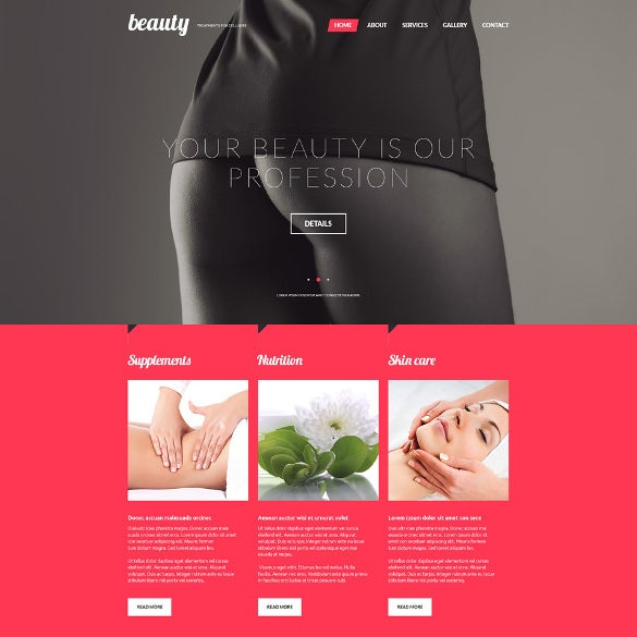treatments for celulite salon website template