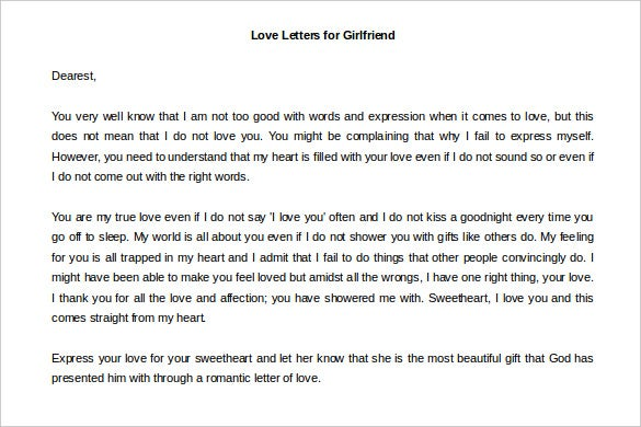 Love Letters – 11+ Free Word Documents Download! | Free & Premium