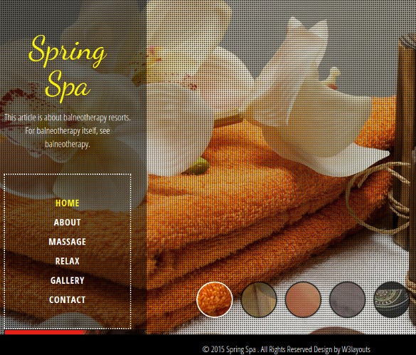 spring spa beauty website template