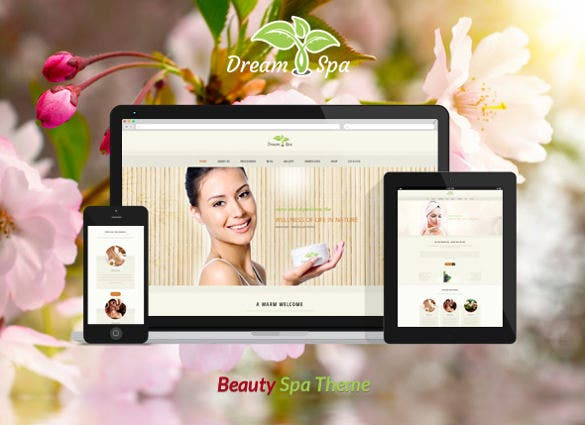 dream spa beauty salon website theme