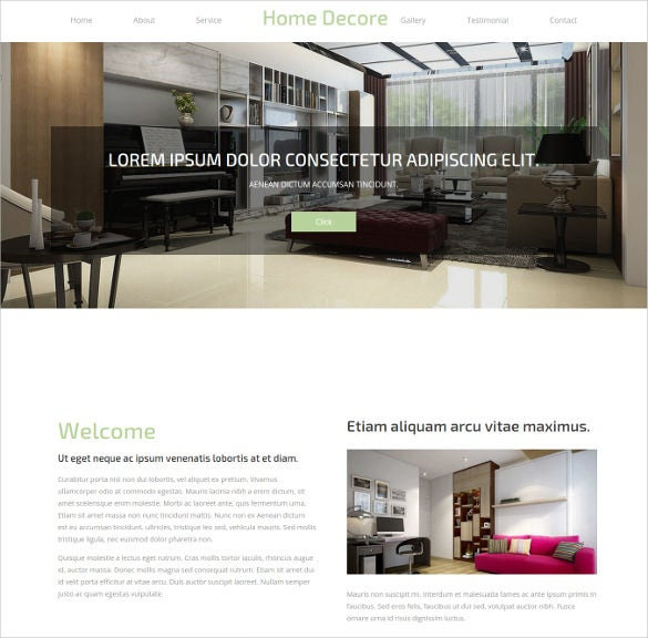 free home decor bootstrap responsive website template