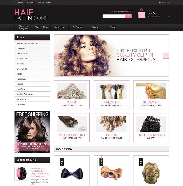 natural hair extensions salon magento theme