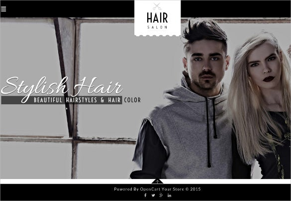 hair salon opencart responsive theme