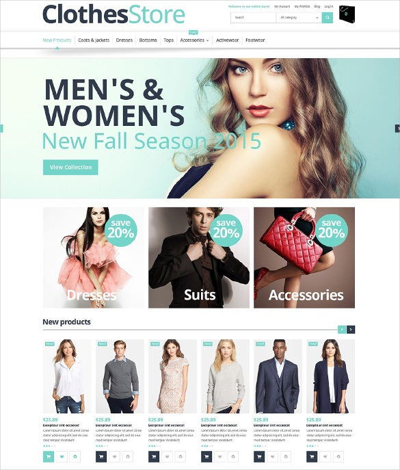 free responsive clothes store magento theme