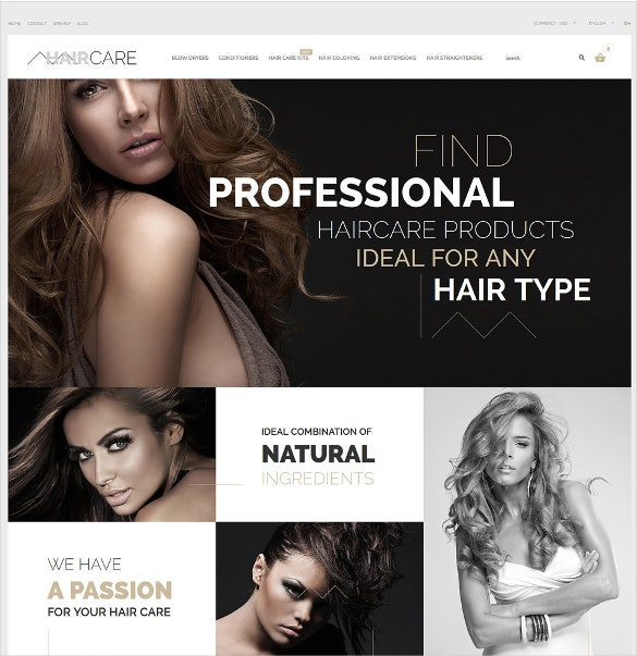 professional hair care salon prestashop theme