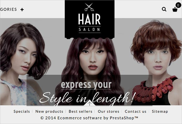 hair salon prestashop responsive theme